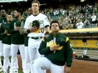 MLB player kneels during anthem for 1st time