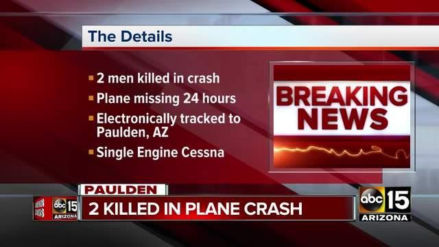 Plane crashes outside of Prescott- 2 dead