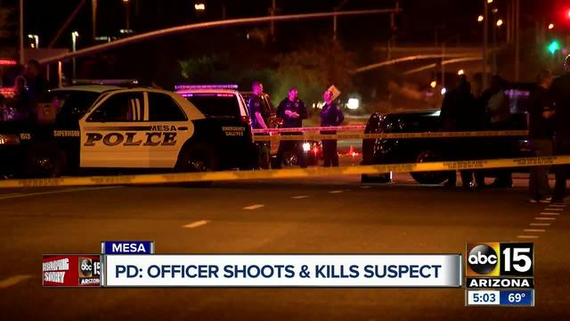 Suspect dies after officer-involved shooting in Mesa