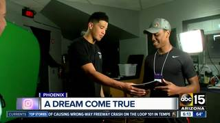 ABC15 surprises young author with Suns idol