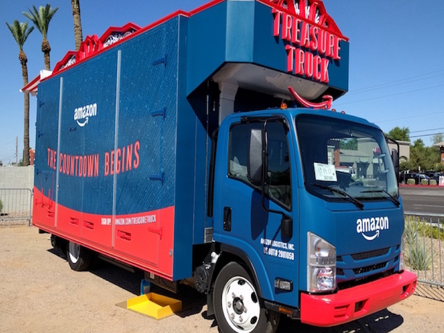 Amazon Treasure Truck parks in Tampa