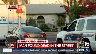 PD: Man found shot dead on west Phoenix street