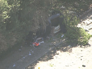 Suspect in custody after rollover in stolen car