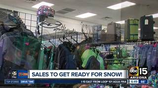 Winter gear sale and tons of snow — literally!