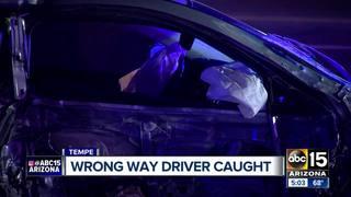 Tempe PD: Wrong-way driver taken into custody