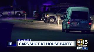 PD: Several cars shot at in Chandler