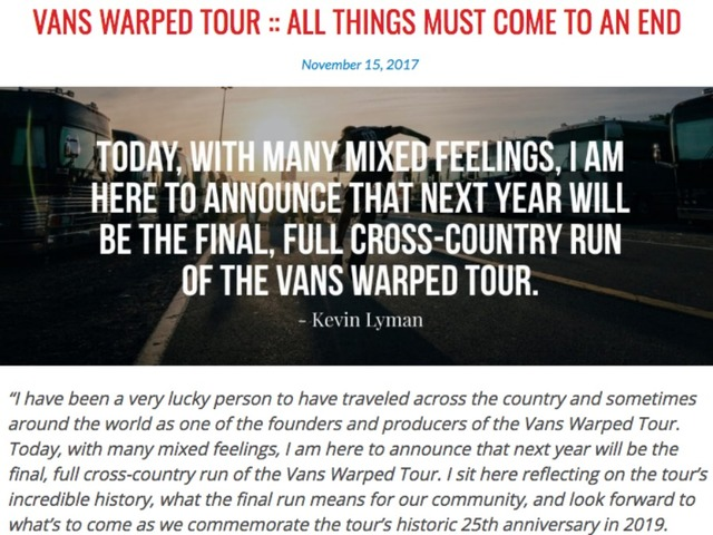 Warped Tour to End After Next Year's Run
