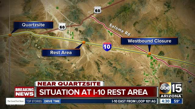 Map Of I 10 Arizona.Trooper Involved Shooting Shuts Down Interstate 10 In Arizona