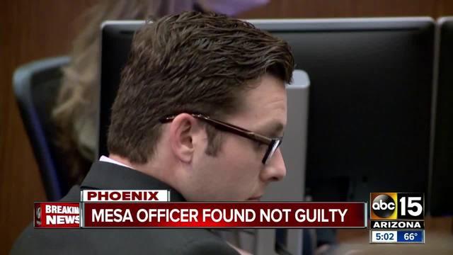 Ex-Mesa officer found not guilty of second-degree murder