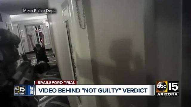 Ex-Mesa police officer found not guilty of second-degree murder…