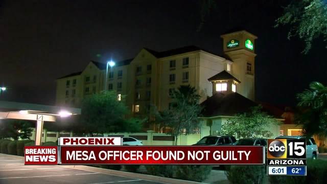 Mesa officer found not guilty of murder