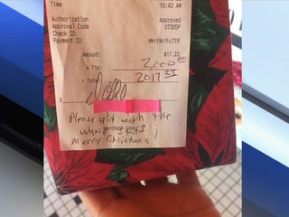 $2,000 tip left for staff at Scottsdale diner