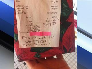 Man leaves $2,000 tip on $17 diner tab