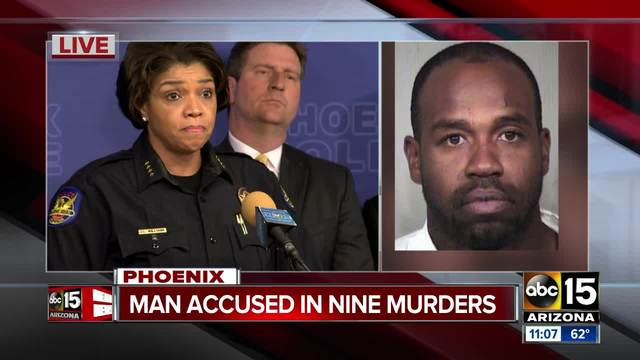 The Newest: Arizona police say suspect tied to 9 killings