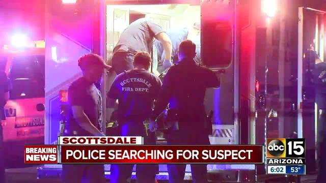 Scottsdale polices search for suspect after man shot in head