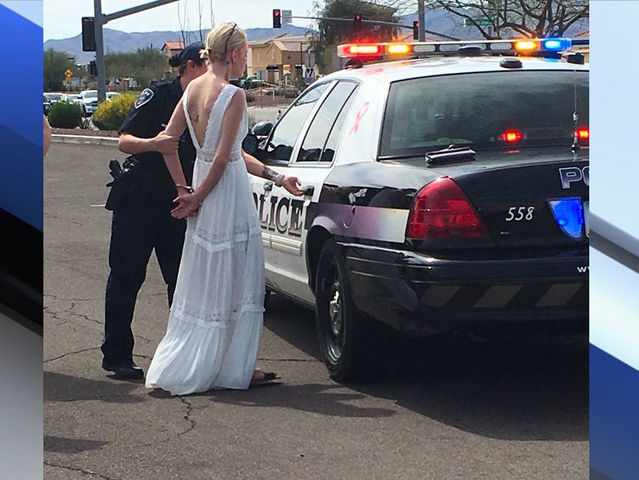 Bride, allegedly impaired, crashes on way to wedding