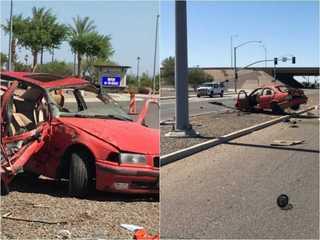 5 teens injured in crash near L-202/Power
