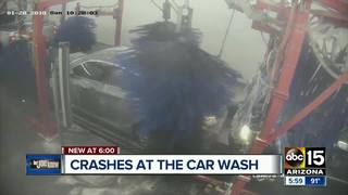 Video captures collision inside Valley car wash