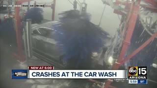 Video captures collision inside Valley car wash
