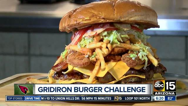 Whoa- Arizona Cardinals add 7-pound burger challenge to the menu