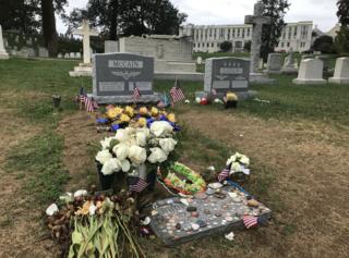 Headstone placed at Sen. McCain's gravesite