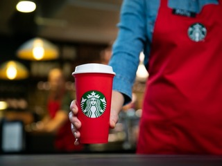 Starbucks is handing out free red cups today