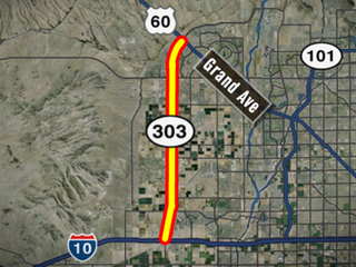 New ramps on Loop 303 at Grand Avenue