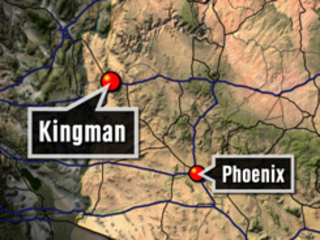 Whiskey Fire burning near Kingman
