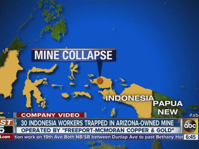 Freeport Indonesia Resumes Mine Work After Deaths Abc15