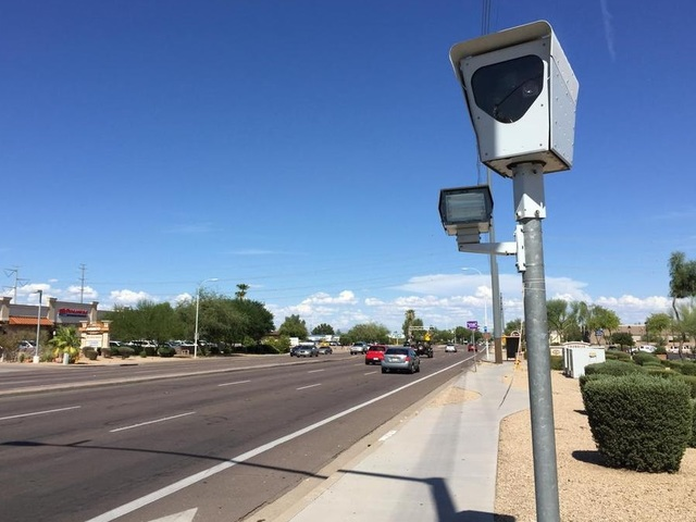 Nineteen cities in Arizona have red light cameras