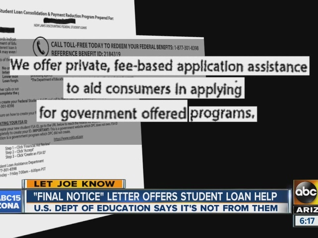 Final Notice Letter Offers Student Loan Help Dept Of Education