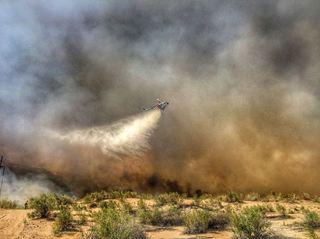 PHOTOS: Fire burning near Lake Havasu