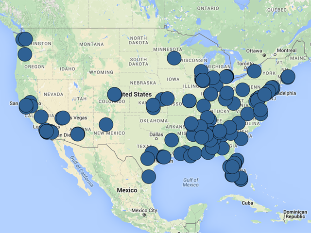 MAP Mass Shootings In The US In So Far ABC Arizona - Map mass