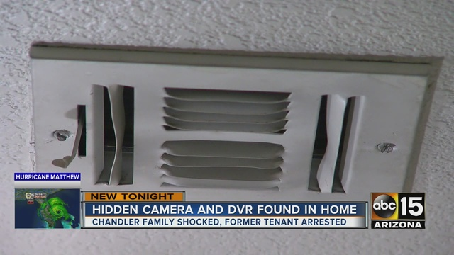 Police Renters Find Hidden Camera Left By Previous Tenant