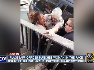 AZ officer defends actions after punching woman