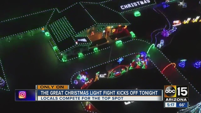 the great christmas light fight 2 arizona homes to be featured on hit abc15 show