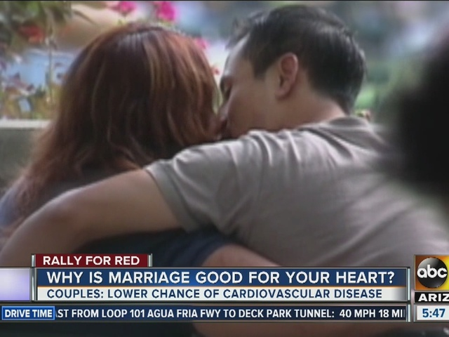 Having a loving partner helps your heart