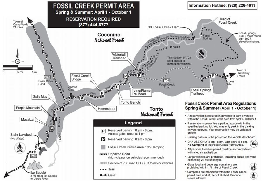 Fossil Creek Az Map Fossil Creek reservations: How to reserve your spot to see the