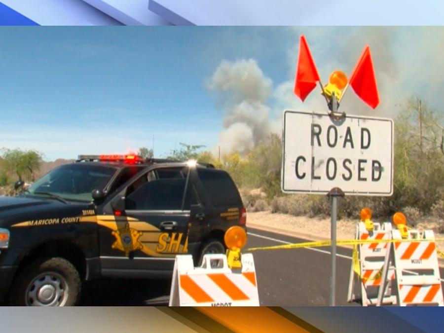 PHOTOS Cactus Fire burning north of