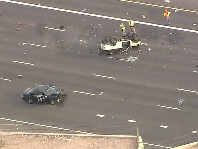 rollover crash shuts down eb us 60 in mesa
