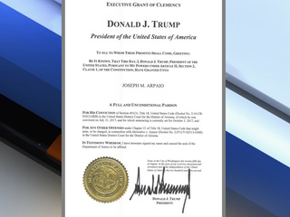 Paperwork for Arpaio pardoning filed