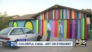 Rainbow house: eyesore or art?