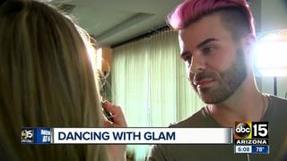Valley makeup artist does makeup for DWTS