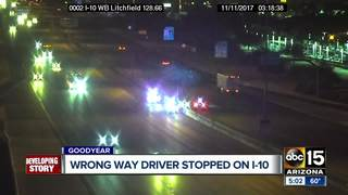 DPS: Wrong-way driver detained in Goodyear