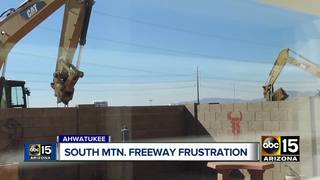 Residents upset with S. Mtn construction noise