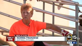 83-year-old keeps active playing softball