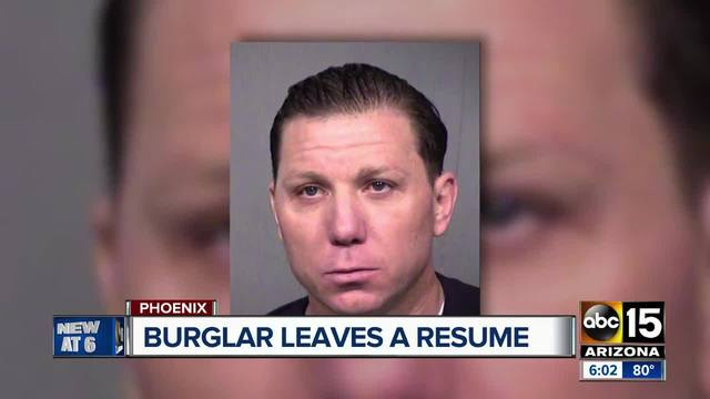 Scottsdale PD: Burglar who steals items worth over $200K leaves resume behind