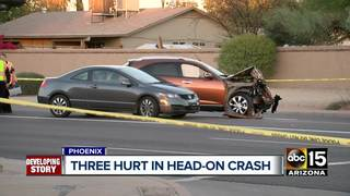 FD: Man, woman hospitalized after head-on crash