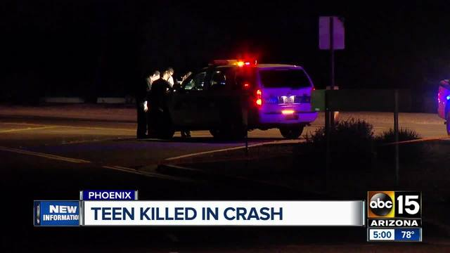 A deadly crash in Phoenix kills teen girl and injured another