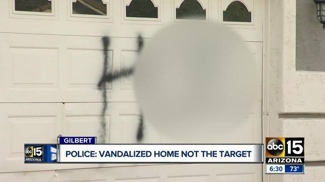 East Valley home vandalized by person with bad temper